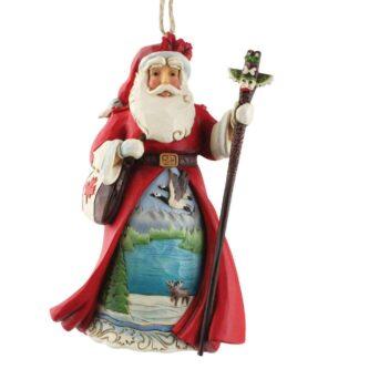 Canadian Santa Ornament Jim Shore Heartwood Creek