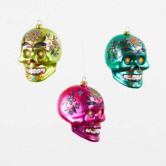 El Meurto Head Ornament Green, Pink or Blue