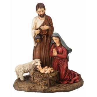 """Outdoor Resin Nativity Holy Family one piece 36"""""""