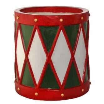 Outdoor Resin Drum Planter or Stand