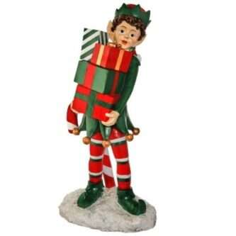 Outdoor elf Holding Packages