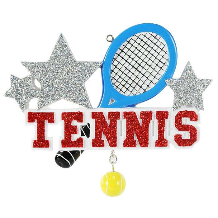Tennis Personalized Christmas Ornament