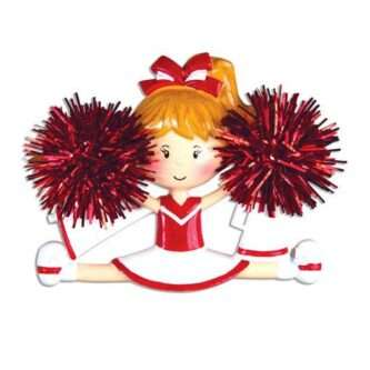 Cheerleader(Red) Personalized Christmas Ornament