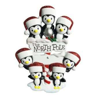 North Pole Penguin Family of seven