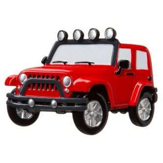 RED - Jeep 4X4 Personalized Christmas Ornament
