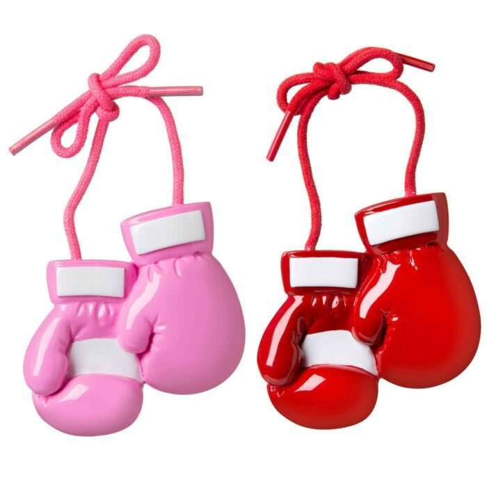 Boxing Gloves (red or pink) Personalized Christmas Ornament