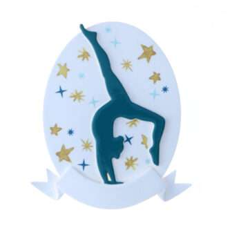 Gymnast silhouette ornament personalized