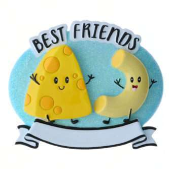 Mac and Cheese Best Friends Personalized Ornament