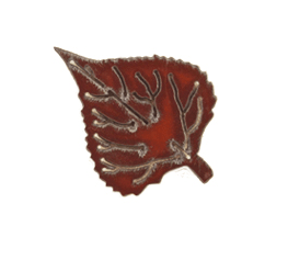 Iron Rustic Aspen Leaf Ornament
