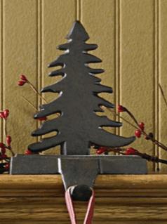 Stocking holder iron rustic tree