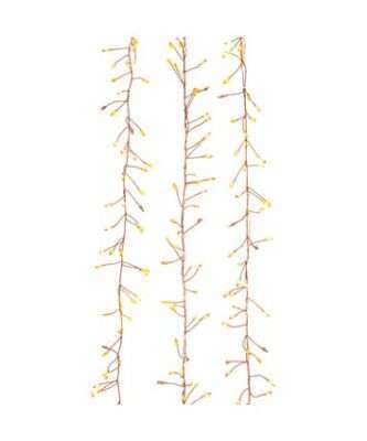 300-Light Twinkling Classic White LED Cluster Garland