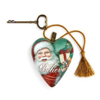 Believe Jolly Santa Art Heart