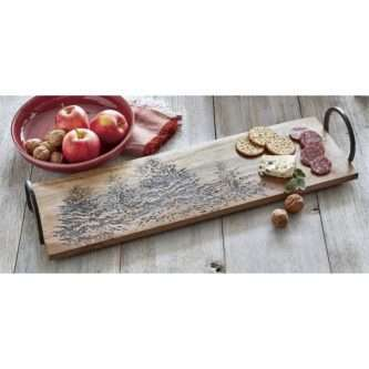 Charcuterie Board with Rustic Trees