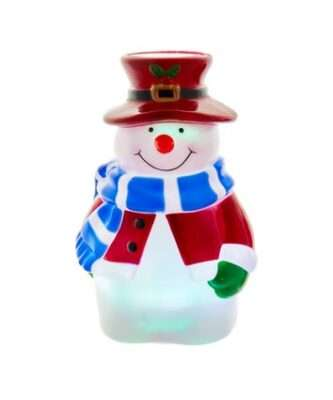 Battery-Operated or USB Powered Snowman Night Light Projector