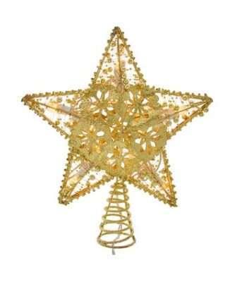 20-Light Gold Star Treetop