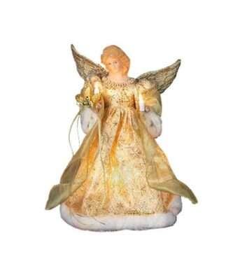 Gold Dress Lighted Angel Treetop