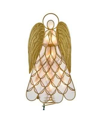10-Light Capiz Angel Lighted Treetop