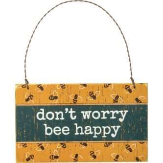 Ornament - Don't Worry Bee Happy