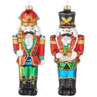 "7"" Glass Nutcracker Ornaments Two styles"