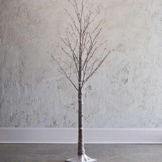 7' or 5.5' Snowy Lit Tree