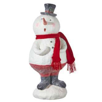 Large Caroling Snowman Decoration