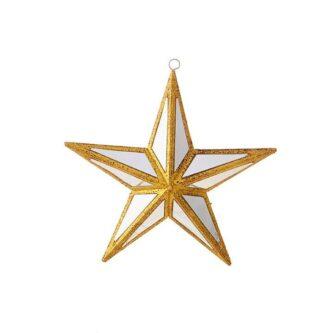 "6"" mirrored Star ornament"