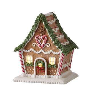 """6.5"""" GINGERBREAD LIGHTED HOUSE"""