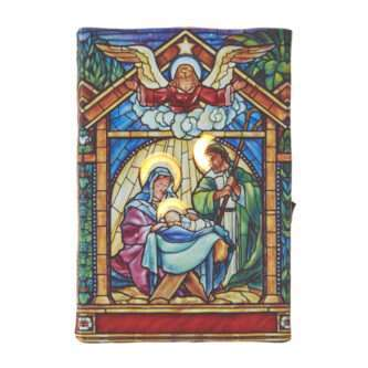 Holy Family Faux Stained Glass Lit Print Ornament