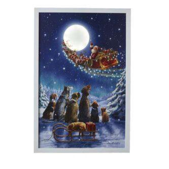 "24"" Dogs watching Santa Fly Away"