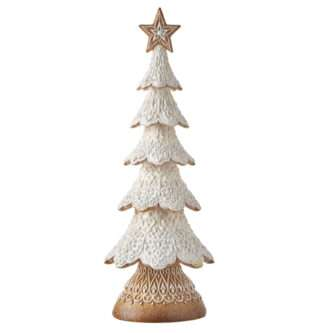 """18"""" WHITE ICING GINGERBREAD TREE"""
