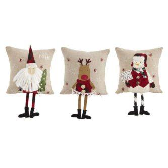 Three dangle legs pillows, Santa, Snowman or Reindeer sold separately