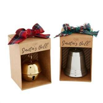 Santa's Bells Gold Jingle Bell or Silver Traditional Bell