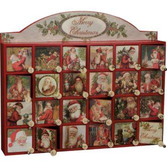Vintage look Countdown Box - Merry Santas