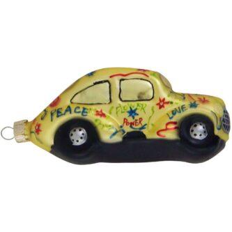 Hippie Bug Glass Figurine Ornament
