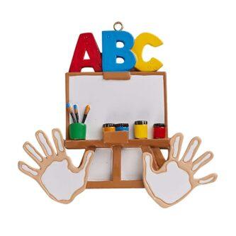 Pre-School or Kindergarten ornament personalize