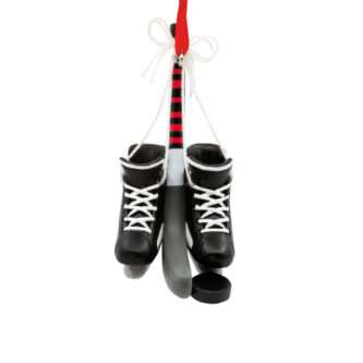 Ice Hockey Ornament with skates, puck and stick