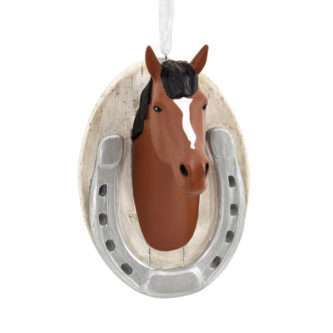 Horse Ornament with horseshoe