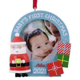 Baby's First Christmas Frame with Santa 2021