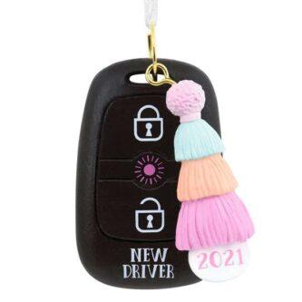 New Driver Feminine Dated Ornament