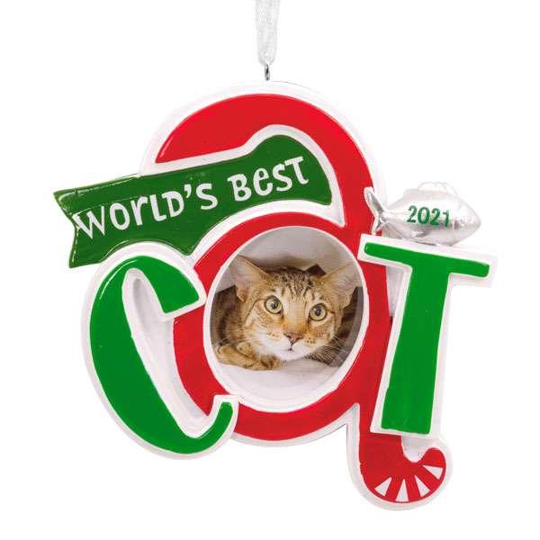 Classic Cat Photo Holder Dated Ornament