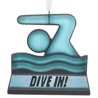 Swimming Dive In ornament
