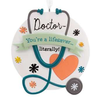 Doctor lifesaver ornament