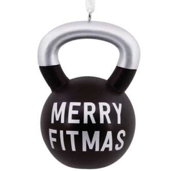 Merry Fitmas Kettleball ornament