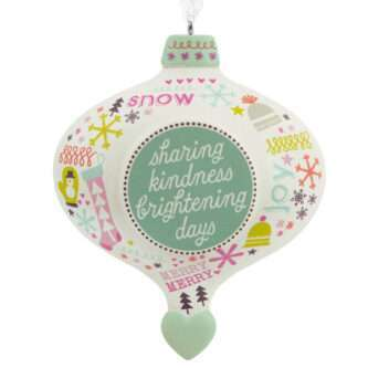 Sharing kindness brightening days ornament
