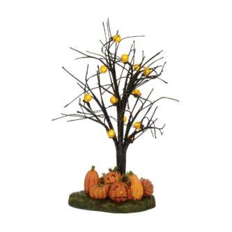 Lit Jack-O-Lantern Tree Village Halloween Accessories