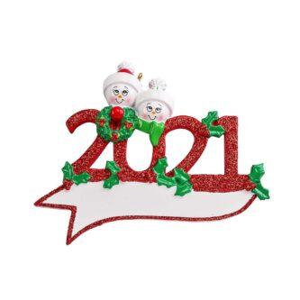 2021 Snowman Family ornament personalize
