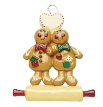 Gingerbread Ornament on Rolling Pin Personalized