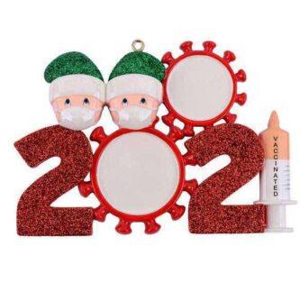Covid 2021 Ornament Personalized