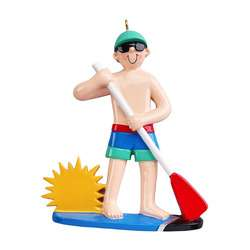 Paddle boarding ornament boy or girl personalized