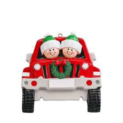 Red SUV couple ornament personalize